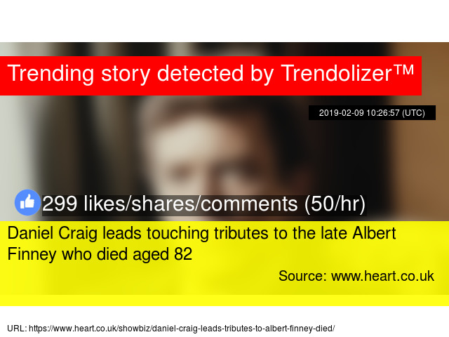 0c19690bd6a Daniel Craig leads touching tributes to the late Albert Finney who died  aged 82 - Stats