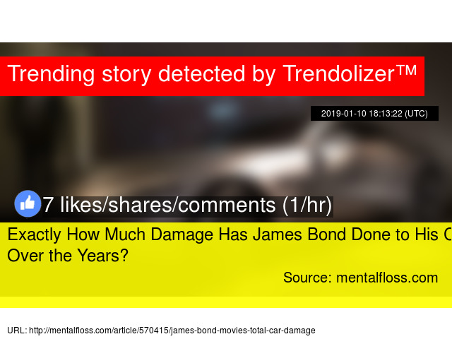 e85009e9293 Exactly How Much Damage Has James Bond Done to His Cars Over the Years  -  Stats