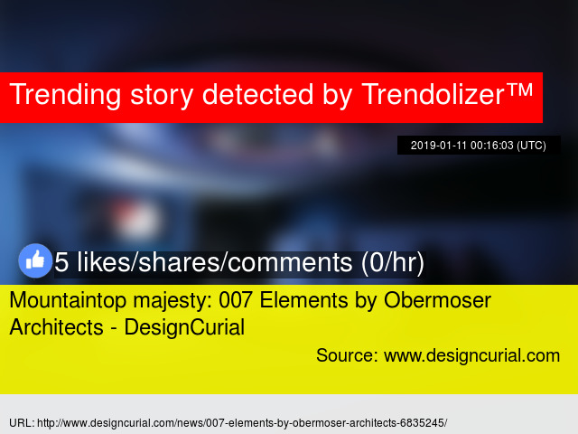 e6c99375252 Mountaintop majesty  007 Elements by Obermoser Architects - DesignCurial -  Stats