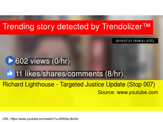 Richard Lighthouse - Targeted Justice Update (Stop 007)