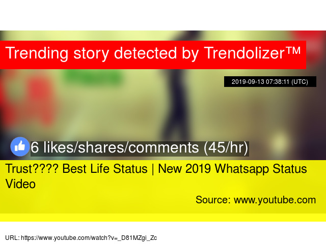 Trust Best Life Status New 2019 Whatsapp Status Video