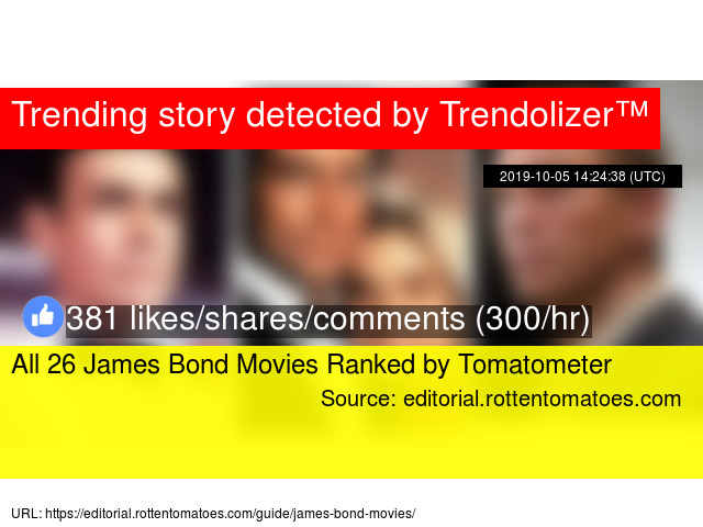 All 26 James Bond Movies Ranked By Tomatometer